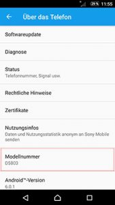 modell-bestimmung-sony-xperia-z3-compact