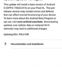 Android O Systemupdate verfuegbar