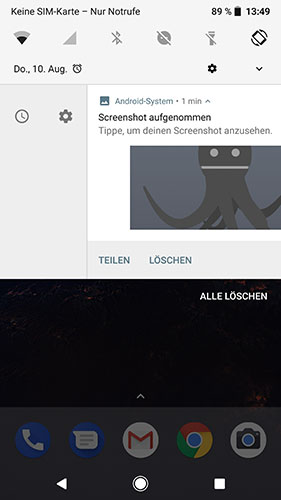 Android 8 Benachrichtigung